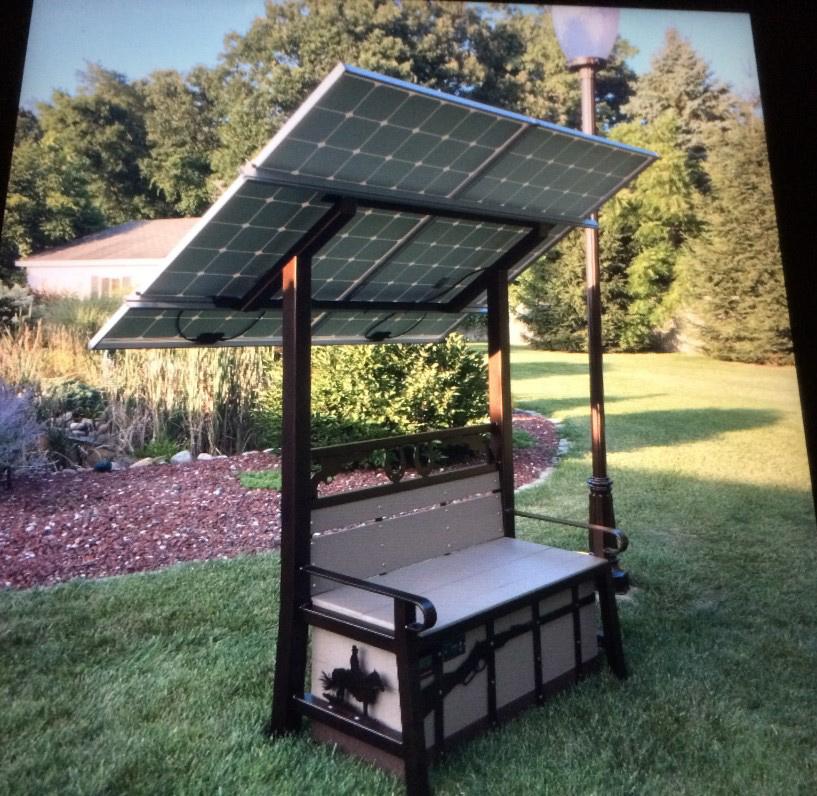 Gardening Solar Benches